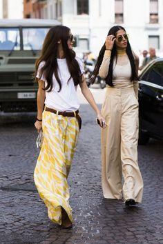 Ancho y amarillo, ¿el pantalón de la temporada? #somoshey