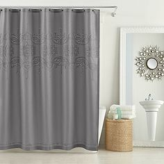 Create a lovely bathroom with the Anthology Scarlet Shower Curtain. Beautifully blending classic and contemporary styling, this curtain features a delicately embroidered eyelet motif that adds a charming layer of depth and dimension to your space.