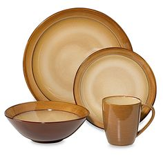 Make every meal special with this attractive stoneware. The rich earth tone…