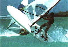 Jumping Windsurfer - Windsurfing Pioneers also on facebook and Twitter - Vintage old retro Windsurfing