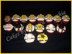 PONQUESITOS DECORADOS FANÁTICO LEONES DEL CARACAS | TORTAS CAKES BY MONICA FRACCHIA