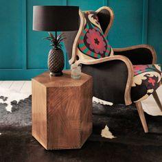Hexagonal Copper Side Table - Bedside Tables - Furniture - Furniture