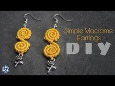 DIY Easy Macrame Earrings 'Diya' - YouTube
