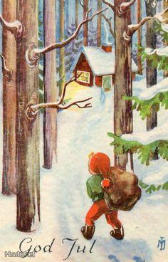 M.Trygg Christmas Illustration, Finland, Denmark, Norway, Scandinavian, Illustrations, Painting, Art, Art Background
