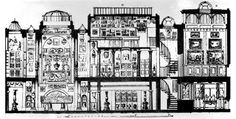 section drawing of John Soane's House