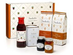 SaraBeth's Signature Collection Gift Box offers brand new pancake and biscuit Mixes, Hot Chocolate Parisienne, two 5.5 oz. jams and strawberry syrup.