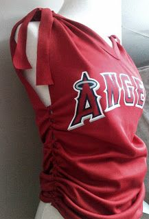 Recycled Knotted Fitted Tee. Anaheim Angels!