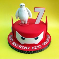 Big Hero 6 Baymax - Fondant Cakes - Johor Bahru CakeDeliver 新山吉隆坡槟城蛋糕外送