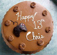 Teen Boy Cakes   Chocolate Video Game Cake