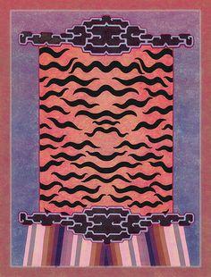 Digital reproduction of tibetan rug