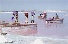 Lake Retba-- it's pink.