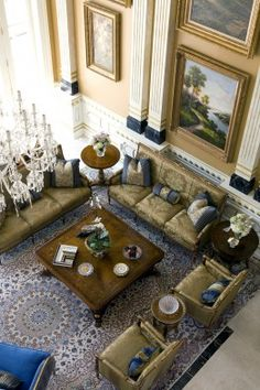 This Potomac, Md., home features a stunning two-story formal living room with exquisite architectural details.