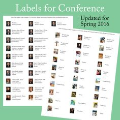 Labels for Conference 2016