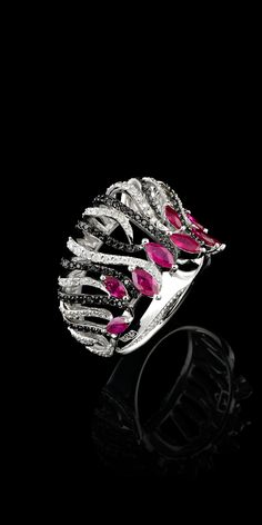 Master Exclusive Jewellery, ring from Kaleidoscope collection, diamond and ruby