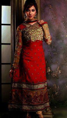 Get Indian Designer #RedGeorgetteChuridar #Kameez #AnarkaliDresses Product code: Unstitch Suit Price: INR 4819 (KPW-36099), Color: Red Shop Online now: http://www.efello.co/Salwar-Kameez_Indian-Designer-Red-Georgette-Churidar-Kameez-Anarkali-Dresses,-Dress_4529