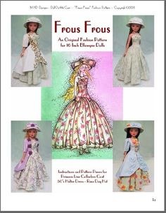 "MHD Designs - ""Frous Frous"" Fashion Pattern for Ellowyne"
