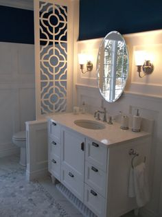 Unfinished Quatrefoil Fretwork Panel/room Divider