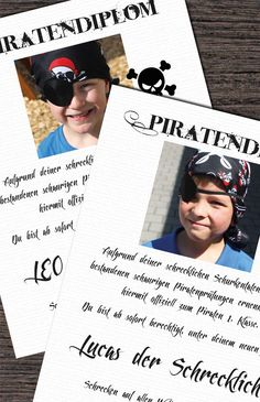 DIY Idee für die Piratenparty: Piratendiplom Creative gift idea for the pirate birthday and the pira Pirate Birthday, Pirate Theme, Girl Birthday, Kids Party Themes, Birthday Party Themes, Pirate Activities, Party Invitations Kids, Invitation Ideas, Guest Gifts