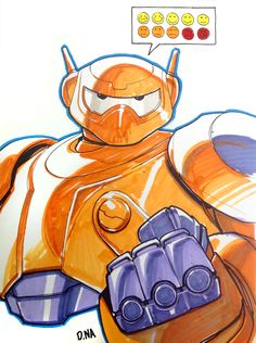 Baymax Marker Sketch by DNA-1 on DeviantArt