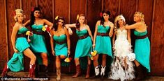 Newlywed: Teen Mom 3 star Mackenzie Douthit wed Josh McKee in a country-style wedding on Saturday with six bridesmaids