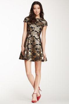 Cynthia Steffe Quentin Rose Jacquard Dress