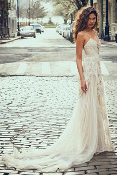 Bohemian Wedding Dress Pictures That Will Blow You Away via @WhoWhatWearUK