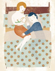 Creative Illustration, Marta, and Antelo image ideas & inspiration on Designspiration Love Illustration, Graphic Design Illustration, Breastfeeding Art, Foto Baby, Collage, Doula, Mother And Child, Illustrators, Creations