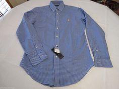 Men's Polo Ralph Lauren shirt button up plaid 7987562anj NEW XXL classic fit  #PoloRalphLauren #ButtonFront