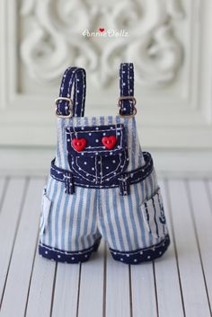 PO Anniedollz Blythe Sailor Short Pants Overalls by Anniedollz