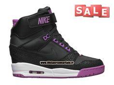 new product 1075c 8d7a9 Nike Air Revolution Sky Hi GS - Chaussure Montante Nike Pas Cher Pour Femme  Noir