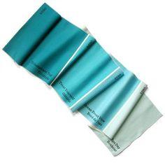 Avril Loreti: Paint Chip Table Runner Blue