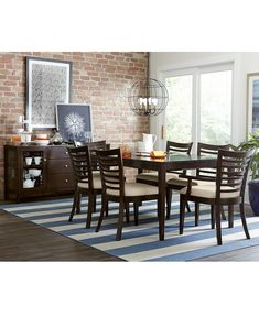 Brisbane Rectangular Dining Table - Shop All Dining Room - Furniture - Macy's