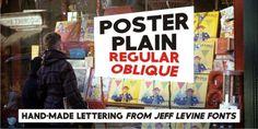 Poster Plain JNL font download