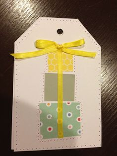 For card or gift tag.