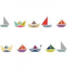 Mimi'Lou Sail Boats Wall Sticker Boarder.