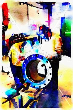 Welders -  More details, download or get the print at: http://tonydurso.com/roni-art/