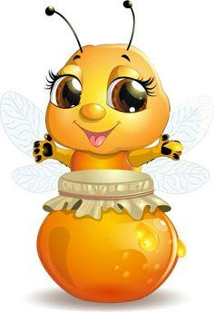Cute Bee Cartoon