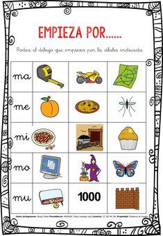 CONCIENCIA FONOLÓGICA EMPIEZA POR…... MA-ME-MI-MO-MU EDITABLE -Orientacion Andujar Daily Five, Dora, Inquiry Based Learning, Elementary Spanish, Word Work Activities, Literacy Stations, Spanish Language Learning, Japanese Language, Acting