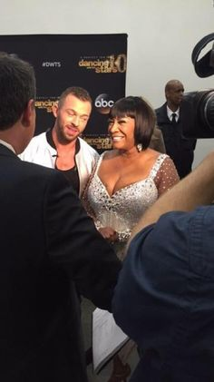 Artem & Patti being interviewed by George - pic posted by @abc7george Twitter
