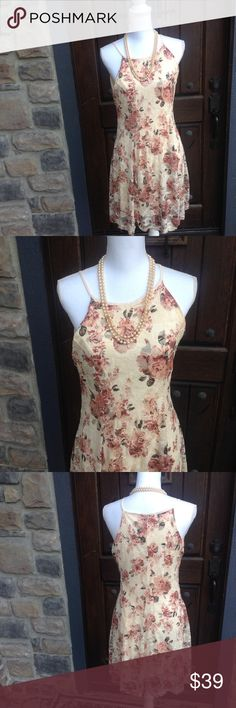 NEW WITH TAGS, FEMININE RUE 21 DRESS lrg JR.  REALLY Cute FEMININE SPAGETTI STRAP DRESS .SIZE LARGE JUNIOR NEW WITH TAGS Rue 21 Dresses