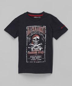 Look at this #zulilyfind! Navy 'Black Market' Logo Tee - Boys by Silver Jeans Co. #zulilyfinds
