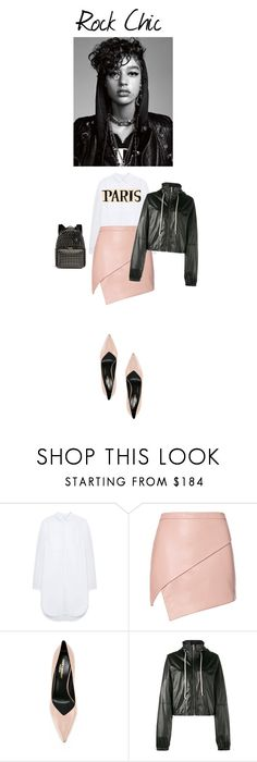 """Loving my rock chic look!"" by cinnamonrose30 ❤ liked on Polyvore featuring Mulberry, Michelle Mason, Yves Saint Laurent, Rick Owens and Valentino"