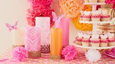 Cupcake table and decor