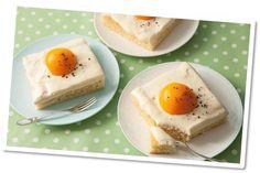 Spiegelei-cake vervang bloem door kokosmeel