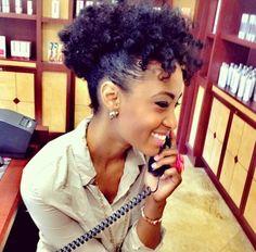 Taasha // 4B Natural Hair Style Icon | Black Girl with Long Hair