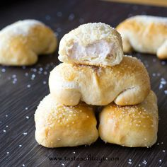 These Cinnamon Cream Cheese Pastry Puffs are our copycat version of McDonalds petite breakfast pastries. Made simply with Pillsbury biscuit dough.