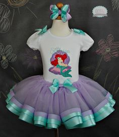 Ariel, Little Mermaid Tutu Set~Includes Top, Tutu, and Hair Accessory on Etsy, $69.99