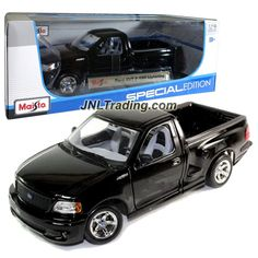 """Maisto Special Edition Series 1:18 Scale Die Cast Car Set - Black Color Pick-Up Truck FORD SVT F-150 LIGHTNING (Dimension: 9-1/2"""" x 4"""" x 3-1/2"""")"""
