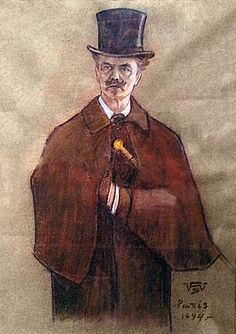 August Strindberg by Wettenhovi-Aspa (Wetterhoff-Asp) 1894 in Paris. Historical Pictures, Batman, Paris, Superhero, Painting, Fictional Characters, Historia, Montmartre Paris, Painting Art