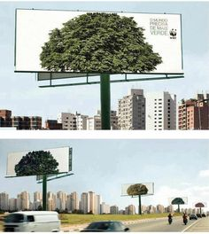 Campagne WWF contre l'affichage intempestif. #guerilla marketing #environnement